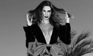 Luciana Gimenez posa look fashion em ensaio: 'a gente tem que se amar'