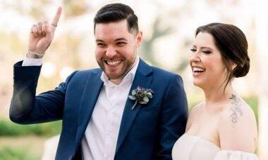 Andressa e Nasser, do BBB 13, se casam após oito anos de namoro
