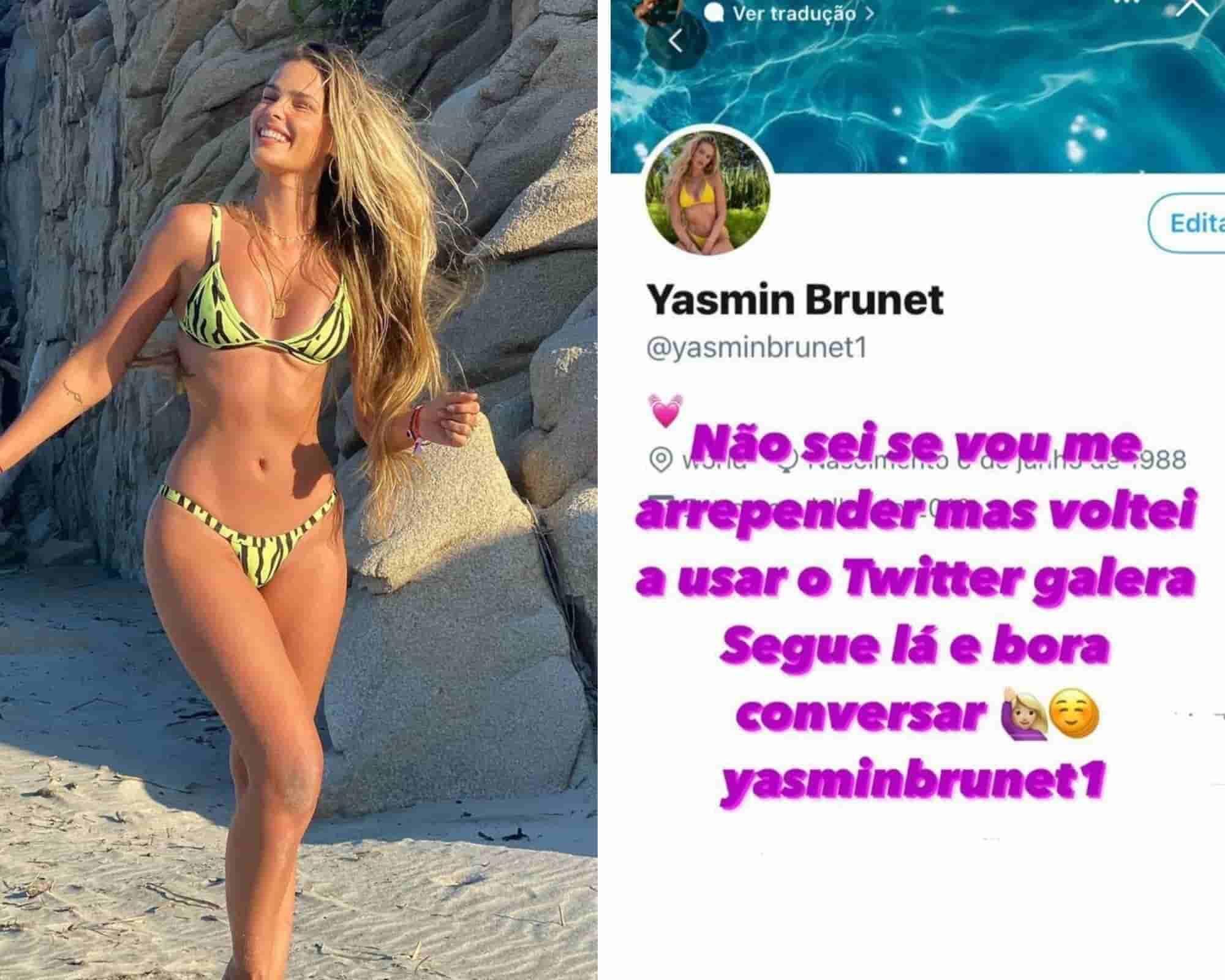 'Não sei se vou me arrepender', diz Yasmin Brunet após voltar ao Twitter (Foto: Reproduação/Instagram)