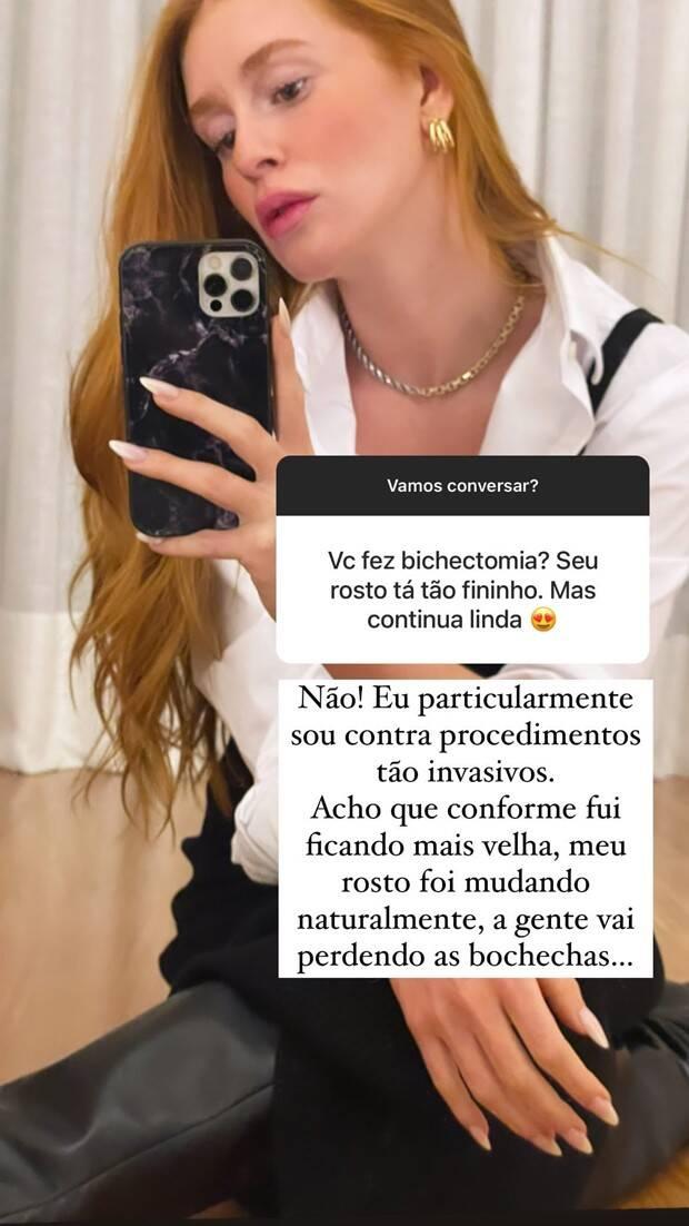 Marina Ruy Barbosa sobre bichectomia: 'eu particularmente sou contra' (Foto: Reprodução/Instagram)
