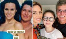 """Ana Furtado posta fotos do início do relacionamento com Boninho: """"Acordei romântica"""""""