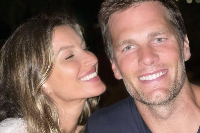 """Gisele Bündchen se declara no aniversário de Tom Brady: """"Amor da minha vida"""""""