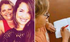 """Juliette Freire se emociona com a caligrafia da mãe: """"Cadê a letrinha?"""""""