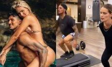 Casal fitness! Yasmin e Medina fazem mesmo treinos juntos em academia