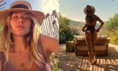 Giovanna Ewbank posa de maiô em dia de sol durante viagem em Ibiza