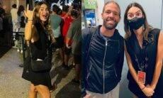 Grávida, Thaila Ayala curte show e conhece baterista do Foo Fighters