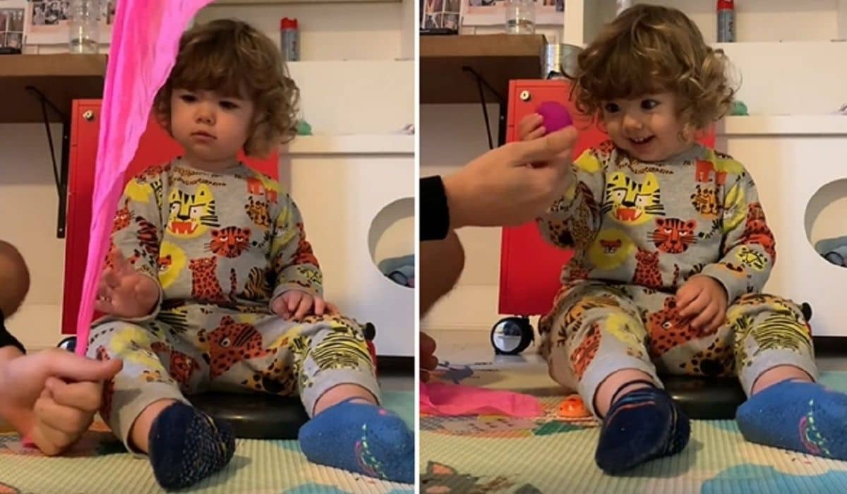 Rafa Vitti encanta filha, Maria Clara com truques: 'o amor é mágico'