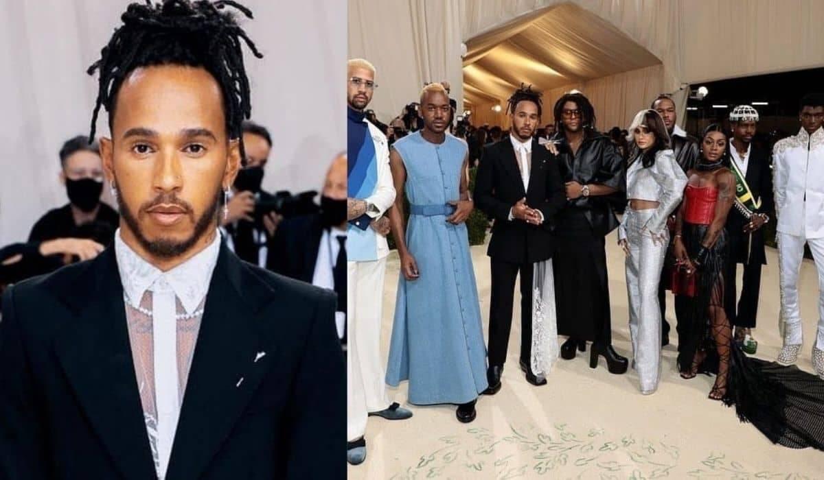 Lewis Hamilton compra mesa no MET Gala para enaltecer estilistas negros