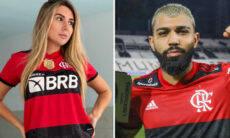 """Carol Portaluppi se irrita com """"ship"""" com Gabigol e manda recado para torcida do Flamengo"""
