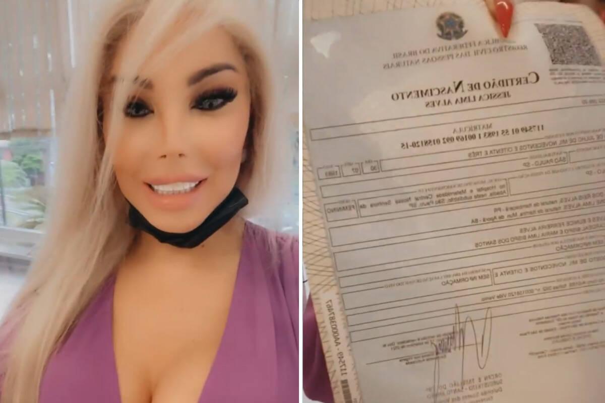 """Jéssica Alves celebra nova certidão de nascimento: """"Conquista importante"""""""