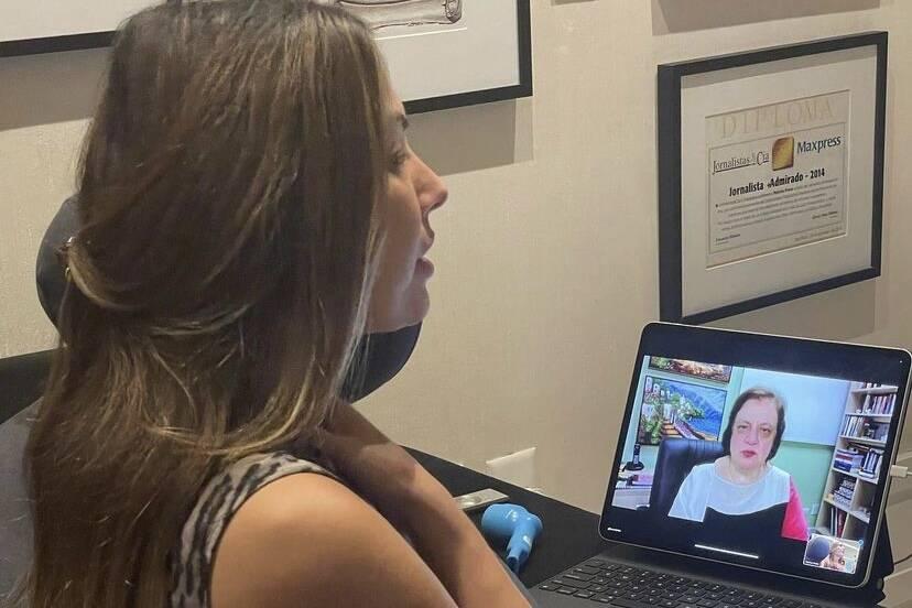 Patrícia Poeta fala sobre sessões de fono após cirurgia de emergência
