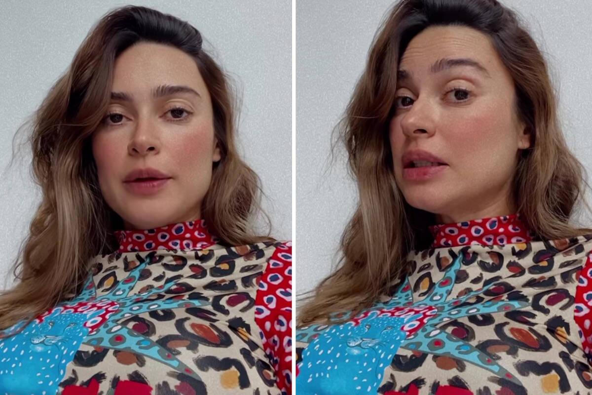 """Grávida, Thaila Ayala revela tensão após ver imagens de partos normais: """"Paniquei"""""""