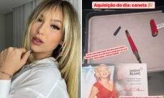 Virginia Fonseca compra caneta de R$ 5.722